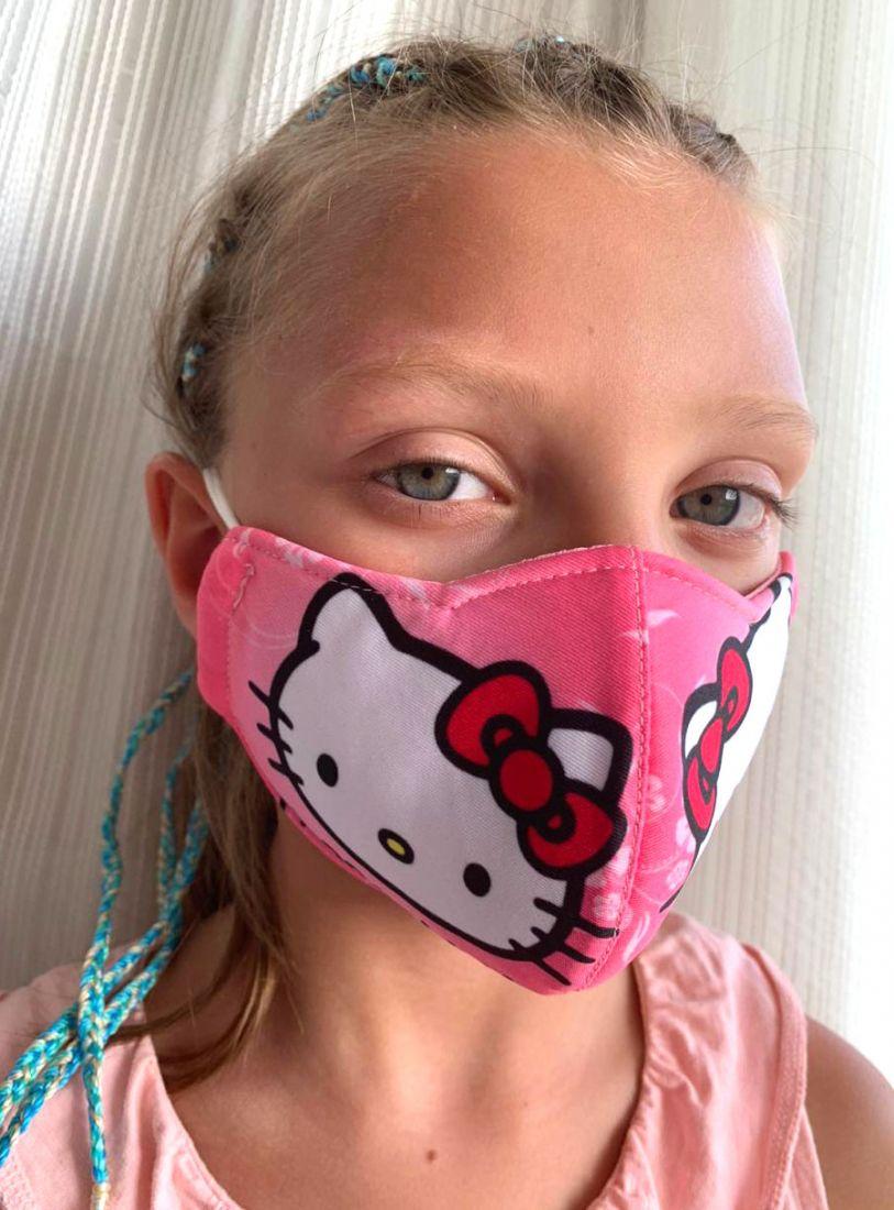 Защитная маска для детей Hello Kitty, на 3-5 лет (Москва)