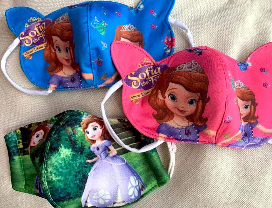 Защитная маска для лица для девочек, Принцесса София, на 3-5 лет (Москва)