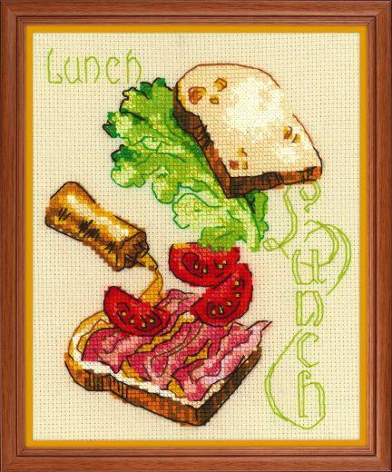 Набор для вышивания крестом Ланч № 1685 фирма Риолис