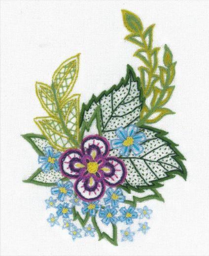 Набор для вышивания крестом Этюд с незабудками № 1688 фирма Риолис