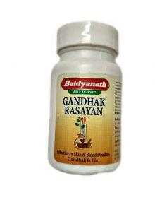 Гандхак Расаяна лечение заболеваний кожи