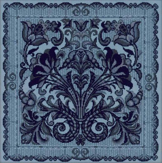 Набор для вышивания крестом Панно/подушка Испанское кружево №1700 фирма Риолис