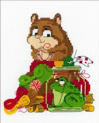 Набор для вышивания крестом Какой хомяк без жабы №1709 фирма Риолис