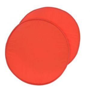 Набор подушек на стул - 2 шт., круглая, диаметр 34 см +- 2 см, цвет коралловый