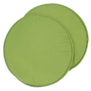 Набор подушек на стул - 2 шт., круглая, диаметр 34 см +- 2 см, цвет фисташковый