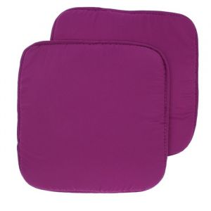 Набор подушек на стул - 2 шт., размер 34х34 см, цвет Фиолетовый