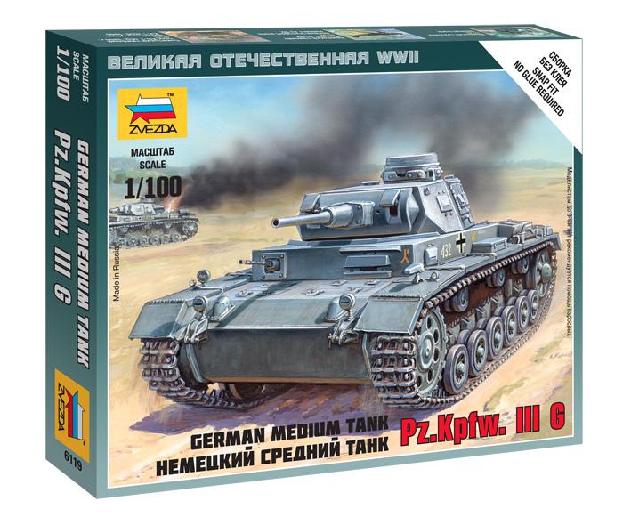 6119 Нем. средний танк Т-IIIG (1:100)