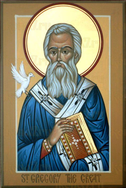 Икона Григорий Двоеслов святитель