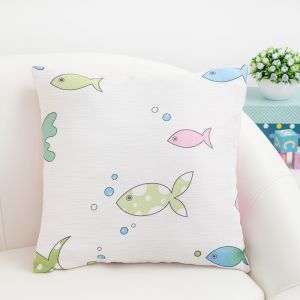 Подушка декоративная Крошка Я «Океан» цвет розовый, 40?40 см, 100% п/э