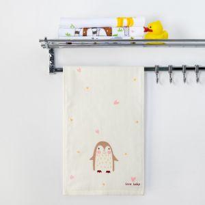 """Полотенце двухстороннее Крошка Я  """"Пингвинчик"""" цв.серый 25 х 50 см, 100% хлопок   4429052"""