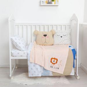 """Одеяло-плед с вышивкой """"Крошка Я"""" Mr. Lion, 90х100 см, велсофт 4855576"""