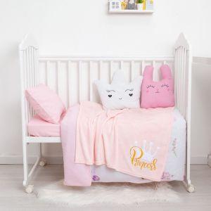 """Одеяло-плед с вышивкой """"Крошка Я"""" Princess, 90х100 см, велсофт 4855579"""