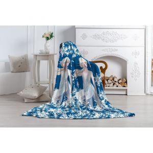 Плед Павлинка Холодное Сердце-2 Эльза 130х170 синий, аэрософт, 190г/м, пэ100%   4724615