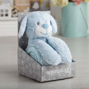 Плед с игрушкой Крошка Я «Дружок» 75?100 см, 100% п/э