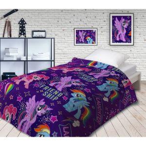 Покрывало стеганое Непоседа НЕОН My Little Pony Дружба 145х200см поплин 105 гм хл100%   4572665