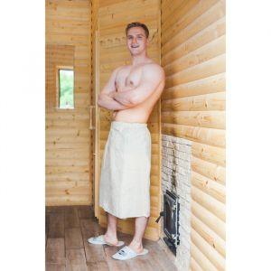 """Килт для бани и сауны """"Добропаровъ"""", 150х75 см, мужской, льняной 2593276"""