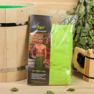 Килт для бани и сауны мужской, махровый, микс 579009