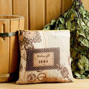 Подушка из кавказских трав на основе листьев дуба и эвкалипта, 27?27 см   4584078