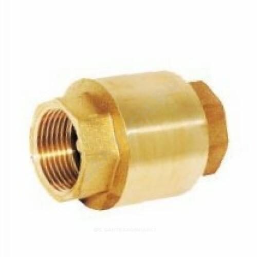 Клапан обратный латунь пружинный Ру16 м/м д/лат Китай