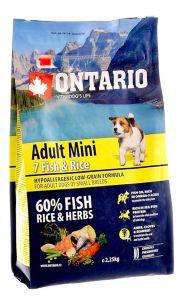 Ontario Для собак малых пород с 7 видами рыбы и рисом