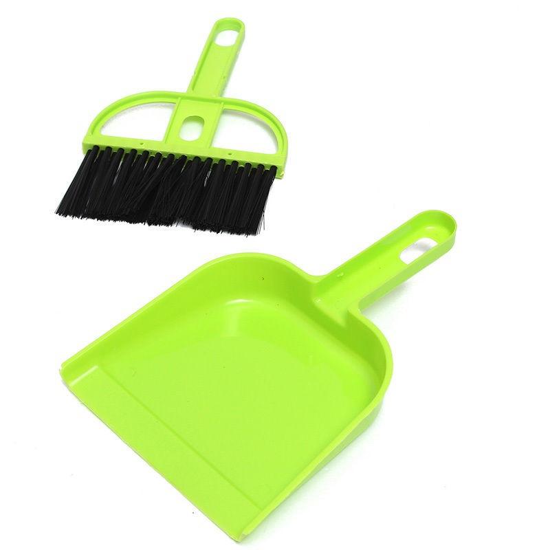 Набор мини-метёлка и совочек MINI DUSTPAN SET, Цвет Зелёный