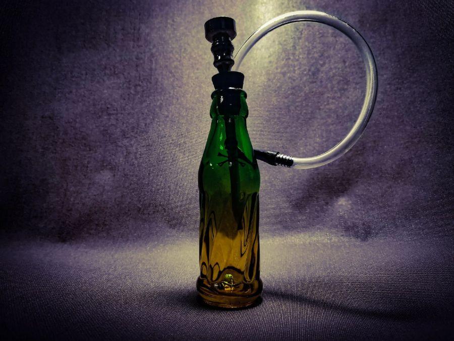 Трубка Bottle Glass Skull
