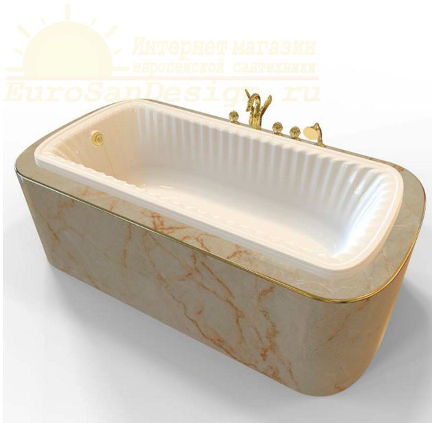Ванна из литьевого мрамора Migliore OLIVIA Podium 24329 ФОТО