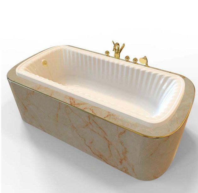 Ванна из литьевого мрамора Migliore OLIVIA Podium 24379 ФОТО