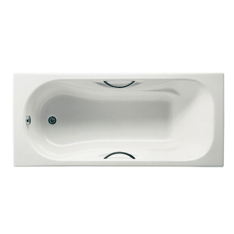 Чугунная ванна Roca Malibu 2309G000R 170x75 с ручками и опорами ФОТО