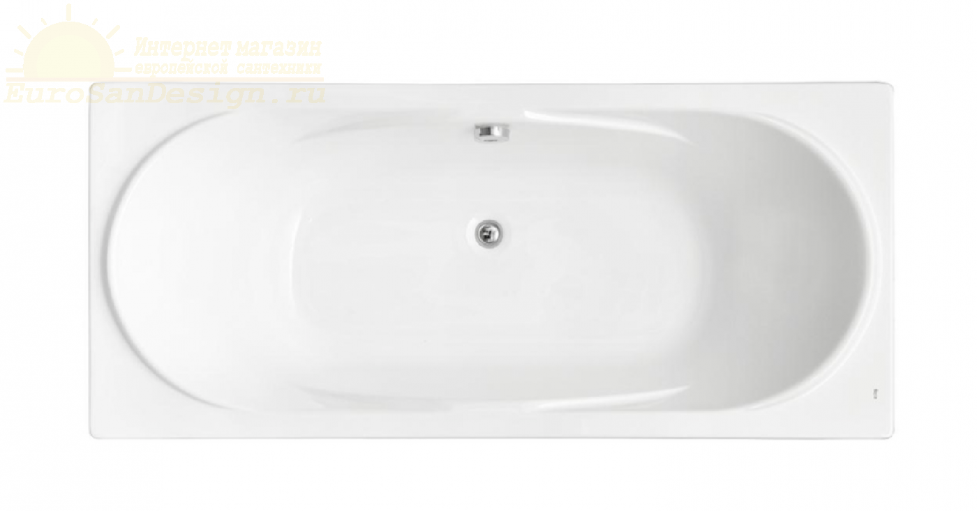Акриловая ванна со сливом по центру Roca Madeira 7248525000 ФОТО