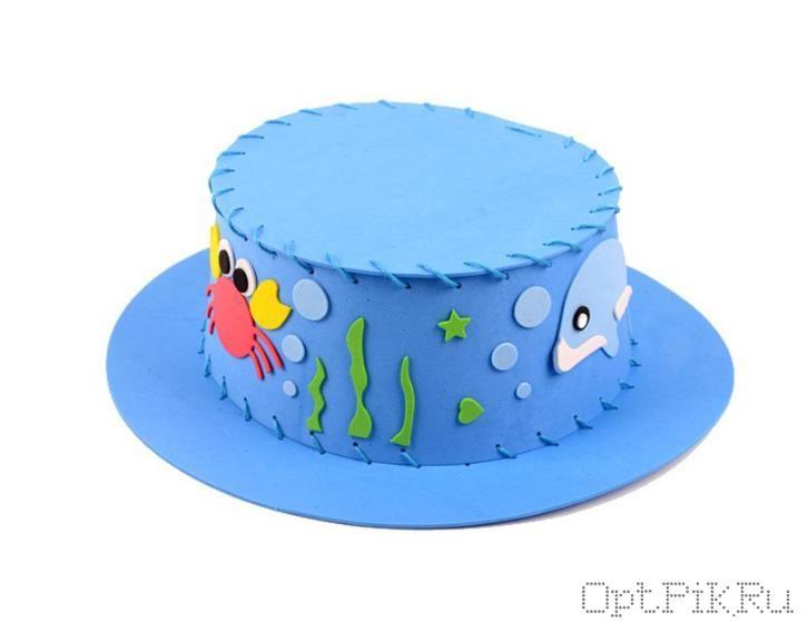 """Набор из фоамирана для создания шляпки """"Море"""""""