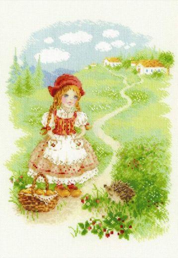 Набор для вышивания крестом Красная шапочка №1736 фирма Риолис