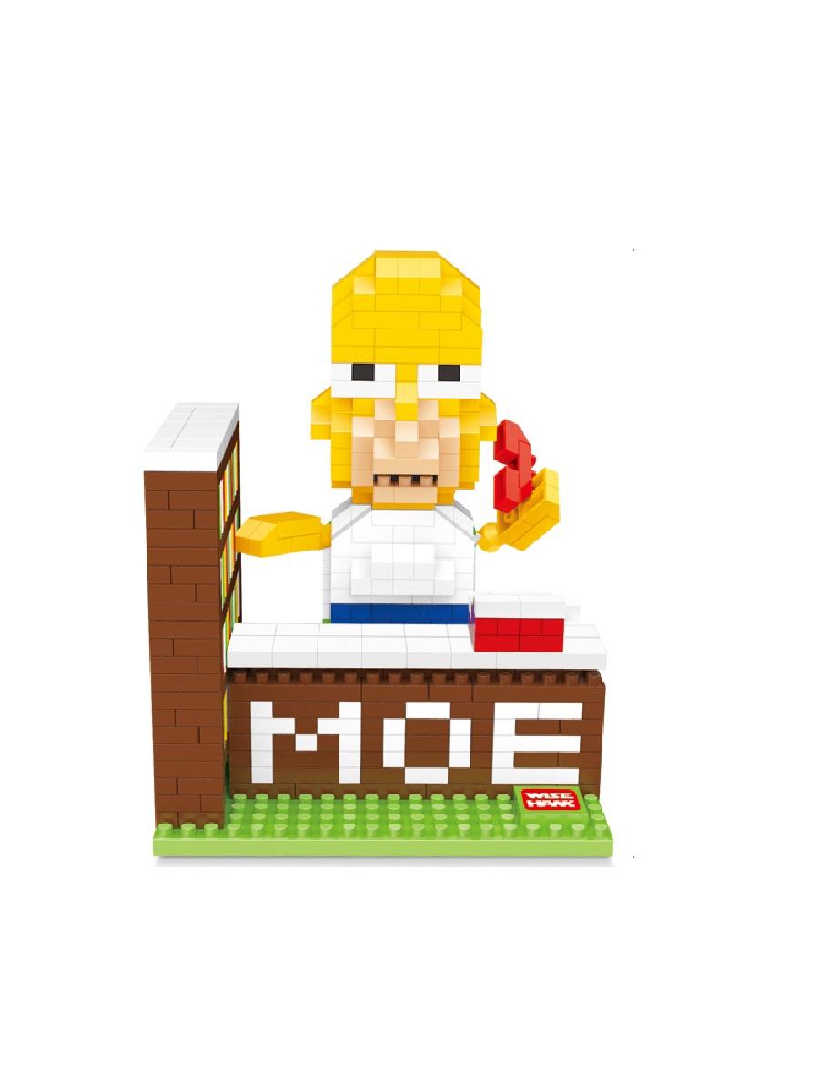 Конструктор Wisehawk & LNO Гомер Джей Симпсон 559 деталей NO. 2412 Homer Jay Simpson mini blocks