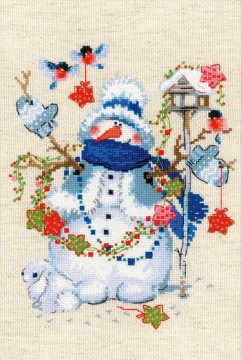 Набор для вышивания крестом Сочельник №1757 фирма Риолис