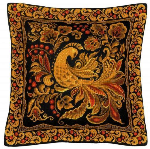 Набор для вышивания крестом Подушка/панно Хохлома №1758 фирма Риолис