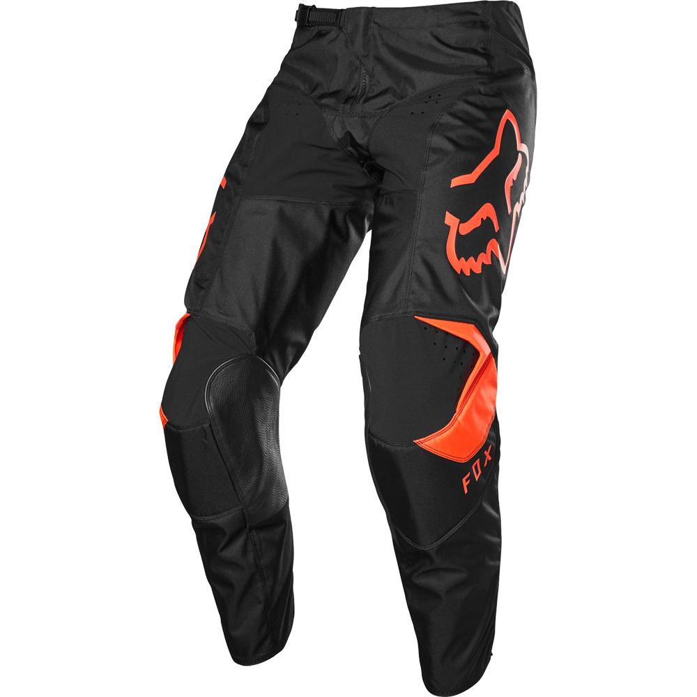 Fox 180 Prix Fluo Orange штаны для мотокросса, оранжево-черные