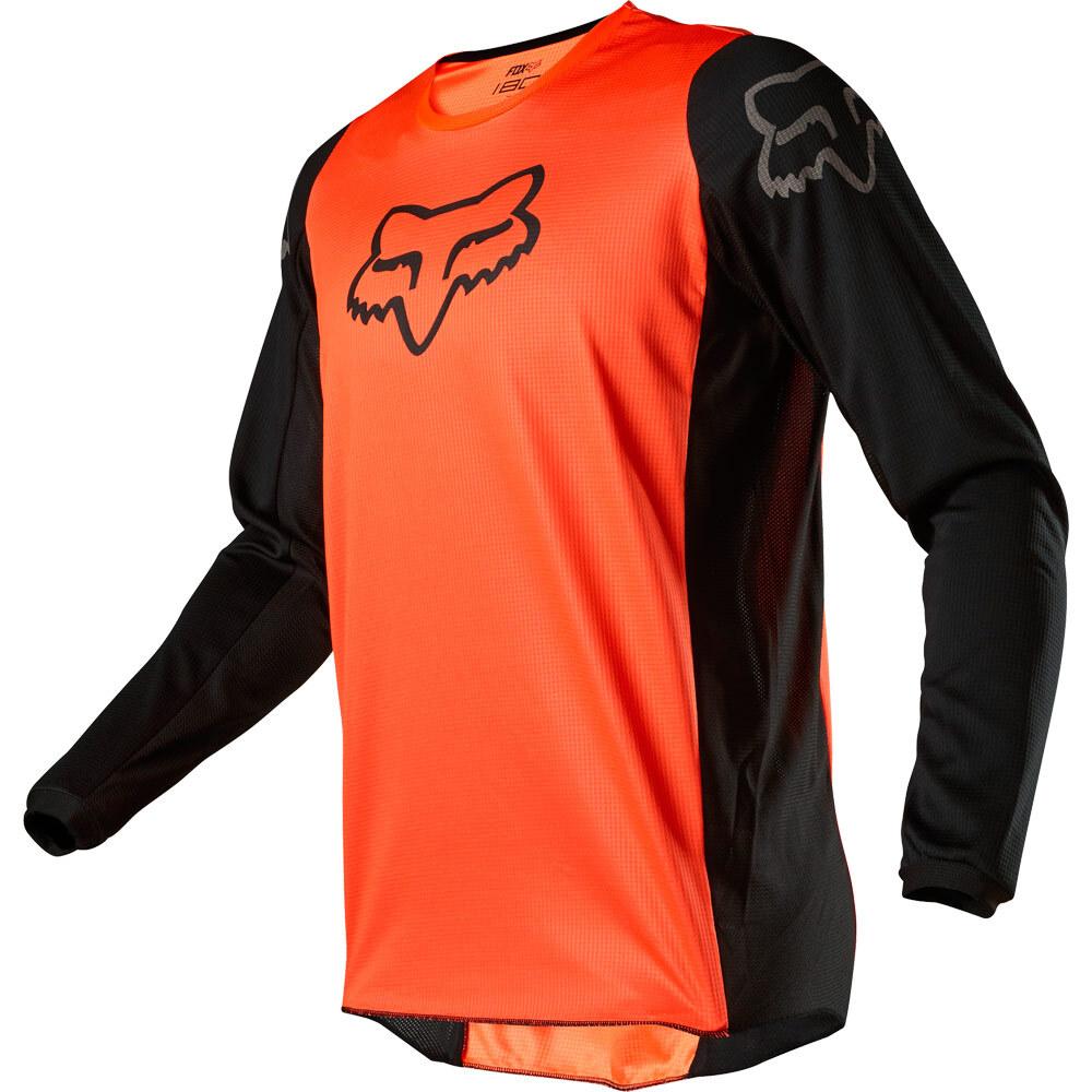 Fox 180 Prix Fluo Orange джерси для мотокросса, оранжево-черные