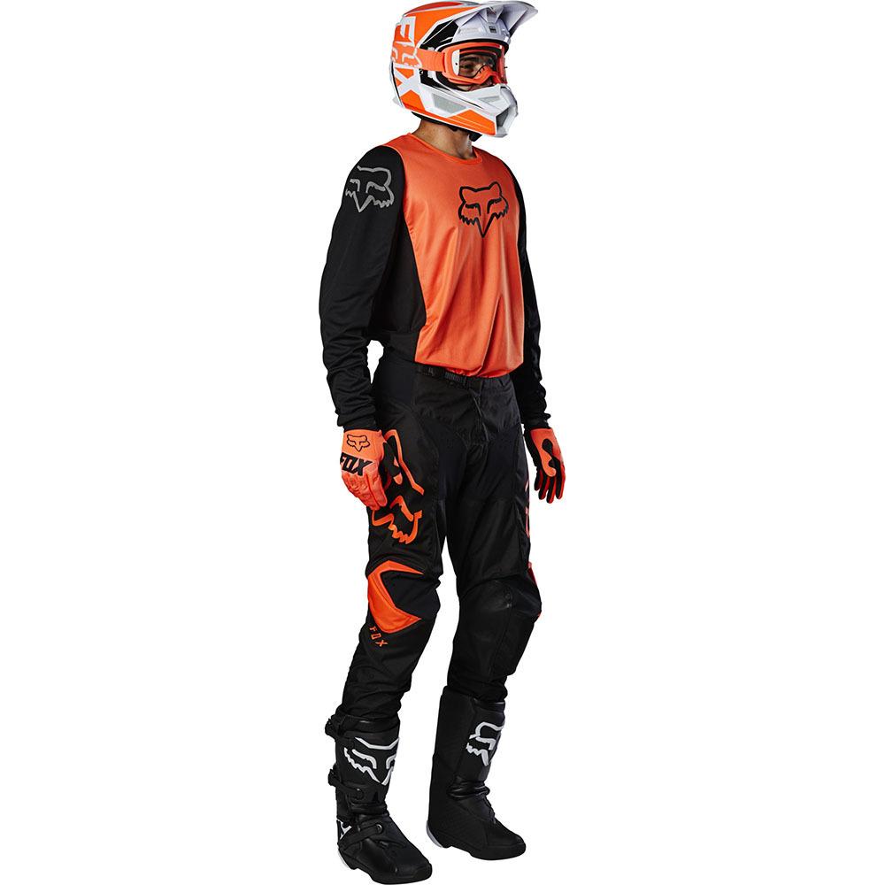 Fox 180 Prix Fluo Orange джерси и штаны для мотокросса, оранжево-черные