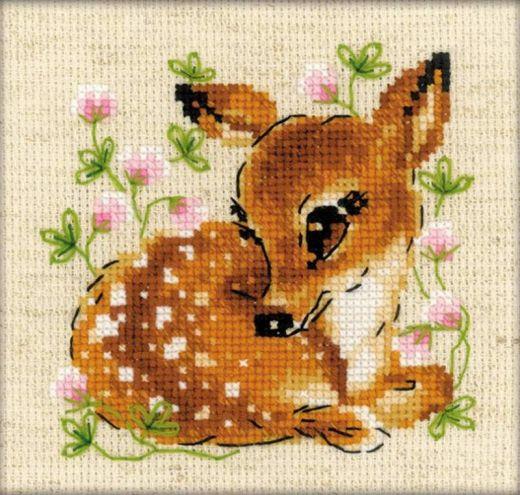 Набор для вышивания крестом Маленький олень №1777 фирма Риолис
