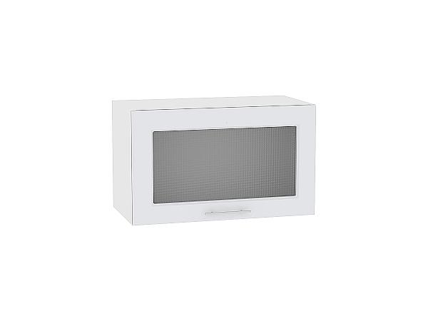 Шкаф верхний Ницца Royal ВГ600 со стеклом (Blanco)