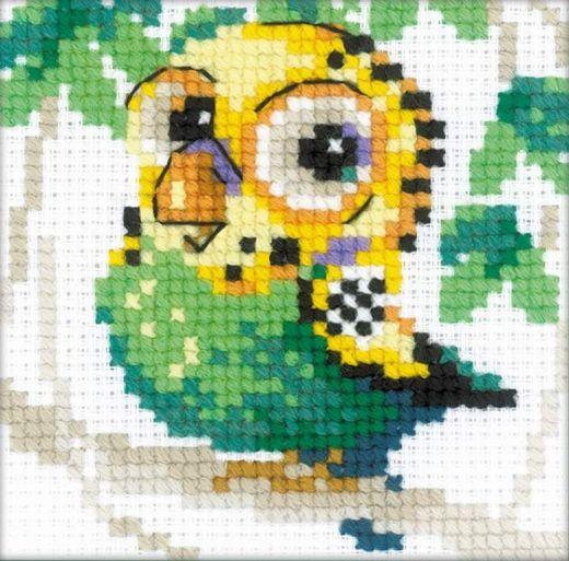 Набор для вышивания бисером Волнистый попугайчик №1785 фирма Риолис