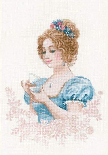 Набор для вышивания крестом Чайный клуб №1791 фирма Риолис