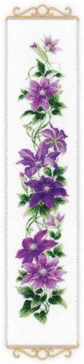 Набор для вышивания крестом Клематис №1801 фирма Риолис