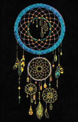 Набор для вышивания крестом Ловец снов № 1803 фирма Риолис