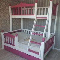Кровать двухъярусная Лейла №11 с ящиками