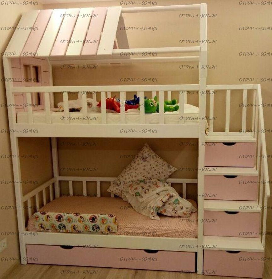 Кровать двухъярусная Домик Fairy Land Standard №20
