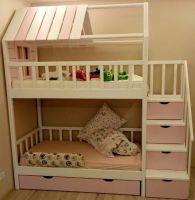 Кровать двухъярусная Домик Fairy Land Standard