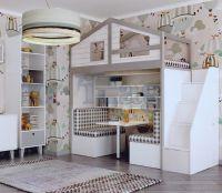 Кровать-чердак Домик Fairy Land Fantasy (любые размеры)