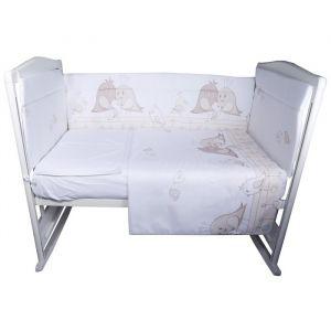 Комплект в кроватку «Птички», 4 предмета, цвет бежевый, бязь
