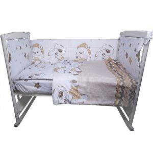 Комплект в кроватку «Умка», 4 предмета, цвет бежевый, сатин